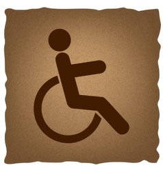 Disabled sign vintage effect vector