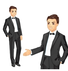 Professional businessman in suit vector