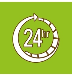 Service 24 hours design vector