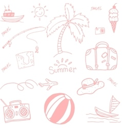 picnic summer doodle vector image