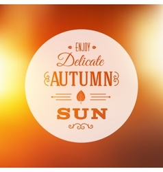 Autumn sun abstract background vector