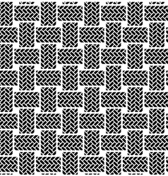 black white seamless textile pattern vector image