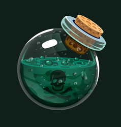 Bottle of poison game icon of magic elixir vector