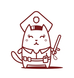 Cartoon cat character vector