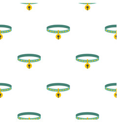 cat collar pattern seamless vector image