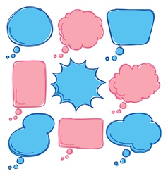 cute bubble speech vector image