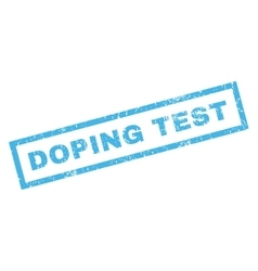 Doping test rubber stamp vector