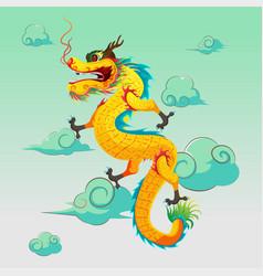 Dragon china art design vector