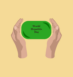 flat icon on theme world hepatitis day soap in vector image