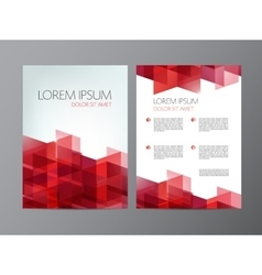 flyer red brochure abstract design 2 sides vector image vector image