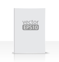 front view of blank book on white background vector image