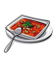 gazpacho soup vector image vector image