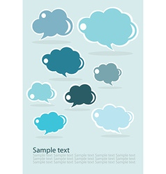 Group of communication speech clouds vector