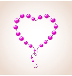 heart of bead for Valentines day vector image vector image
