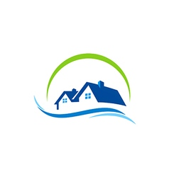 House water construction logo vector