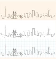 johannesburg hand drawn skyline vector image