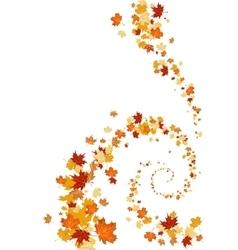 Leaves swirl background vector