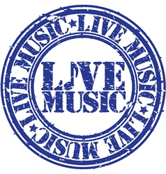 Live music stamp vector