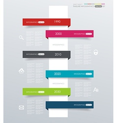 Minimal infographics design Can be used for vector image vector image