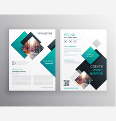 Modern blue brochure cover design annual report vector