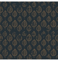 Pattern leafs gold vector image vector image