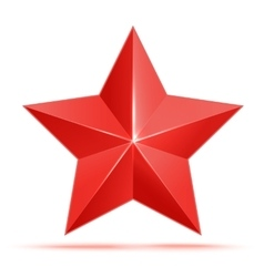 red 3d star premium The best reward vector image vector image