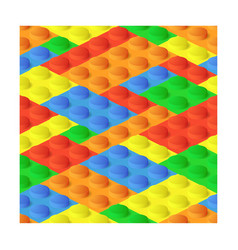 Seamless construction plastic colourful blocks vector