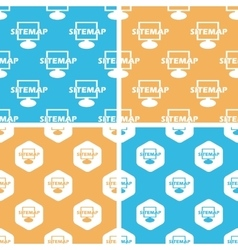 Sitemap pattern set colored vector