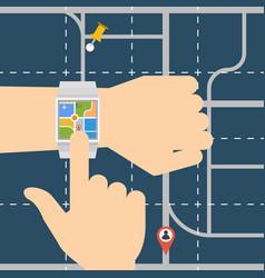 Smart watch navigator vector