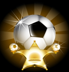 soccer star vector image
