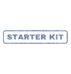 Starter kit textile stamp vector