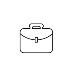 Suitcase icon luggage in line style vector