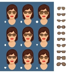 sunglasses shapes 7 vector image vector image