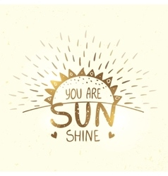 Sunshine gold silhouette vector