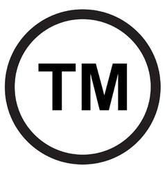 Trademark symbol icon vector