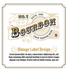 vintage frame logo design for label vector image vector image