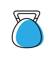 weight hand cartoon vector image vector image
