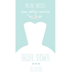 Congratulations card template for wedding vector