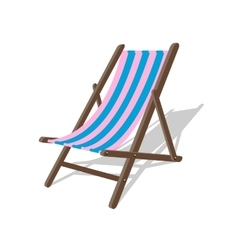 Wood beach rest chair relax outdoor vector