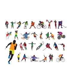 Silhouettes athlete vector