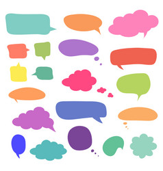 Set of blank colorful speech bubbles and balloons vector