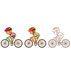 Drafting character for cyclist vector