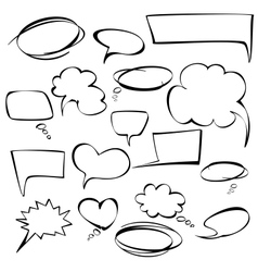 frames and bubbles collection hand drawn vector image