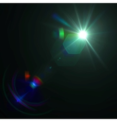 Lens flare effect eps8 vector