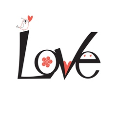 graphic word love vector image