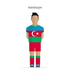 Azerbaijan football player soccer uniform vector