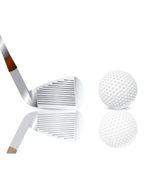 Golf club and a ball vector