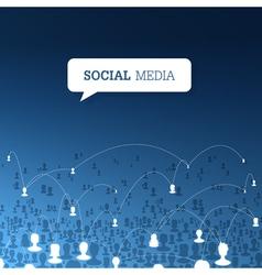Social concept design vector