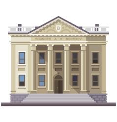 Bank building vector