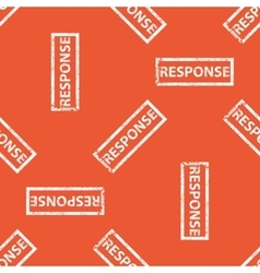 Orange response stamp pattern vector